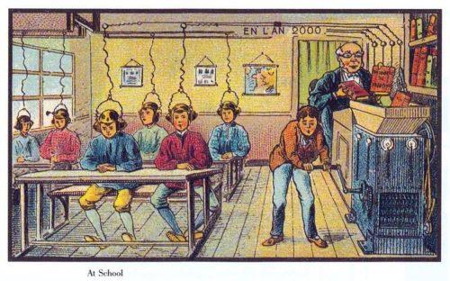 caricature enseignement transmissif